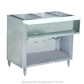 Advance Tabco WB-3G-LP-BS Serving Counter, Hot Food, Gas