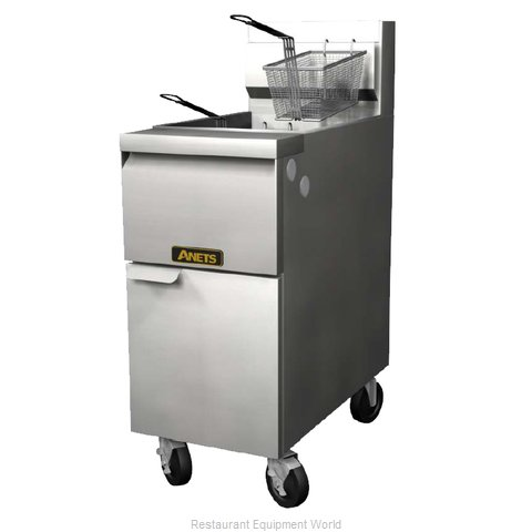 ANETS 14GS Fryer Floor Model Gas Full Pot 35-50 lb. Cap.
