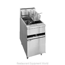 ANETS 18 Fryer, Gas, Floor Model, Full Pot