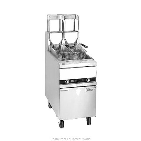 ANETS 18AA Fryer Floor Model Gas Full Pot