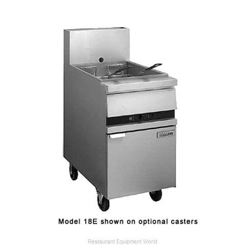 ANETS 18E Fryer Floor Model Gas Full Pot