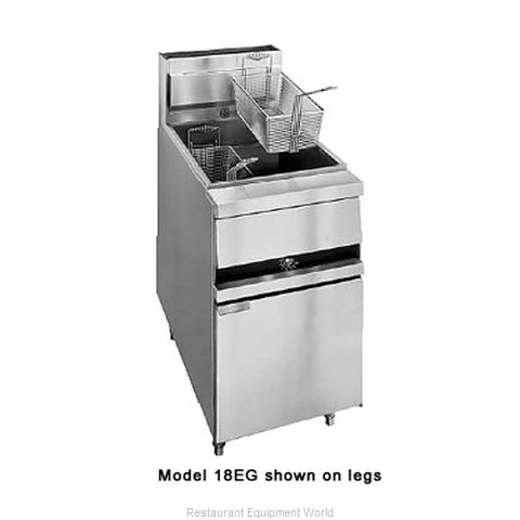 ANETS 18EG Fryer Floor Model Gas Full Pot