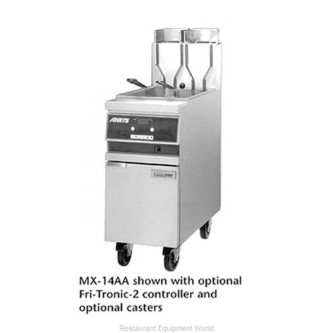 ANETS MX14AAF Fryer Floor Model Gas Full Pot