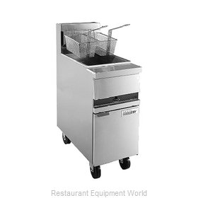 ANETS MX14EG Fryer Floor Model Gas Full Pot