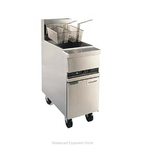 ANETS MX14EXF Fryer Floor Model Gas Full Pot (Magnified)