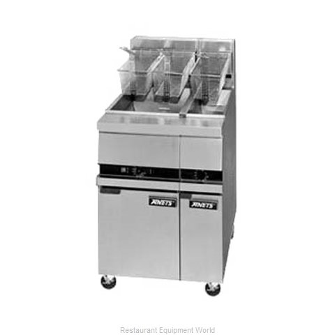 ANETS MX7E Fryer Floor Model Gas Half-Size (Magnified)