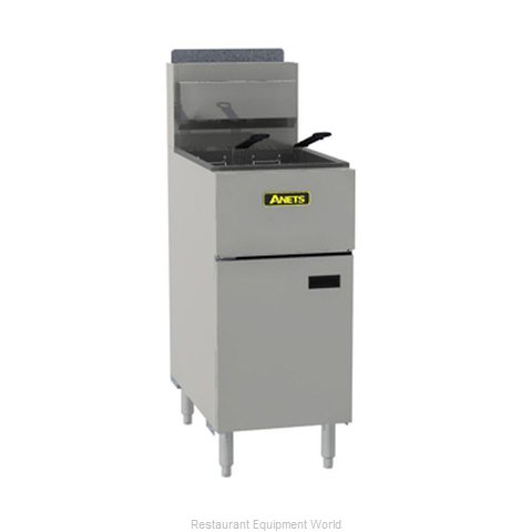 ANETS SLG50 Fryer Floor Model Gas Full Pot 40-50 lb. Cap.