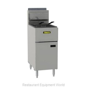 ANETS SLG50 Fryer, Gas, Floor Model, Full Pot