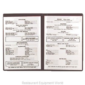 Alegacy Foodservice Products Grp 101B Menu Cover