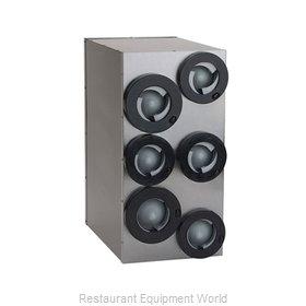 A.J. Antunes DACS-60 Cup Dispensers, In-Counter