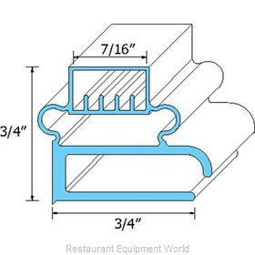 All Points 74-1011 Refrigerator, Door Gasket
