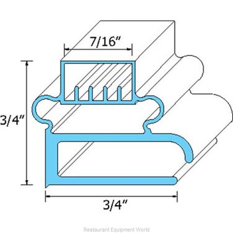 All Points 74-1014 Refrigerator, Door Gasket