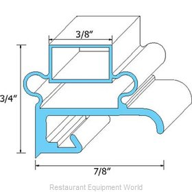All Points 74-1017 Refrigerator, Door Gasket