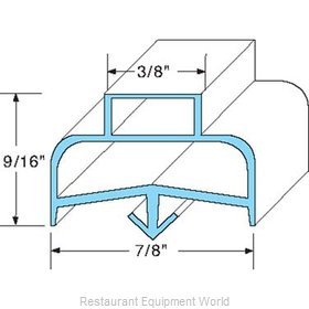All Points 74-1018 Refrigerator, Door Gasket