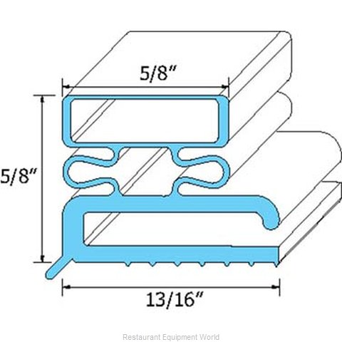 All Points 74-1037 Refrigerator, Door Gasket (Magnified)