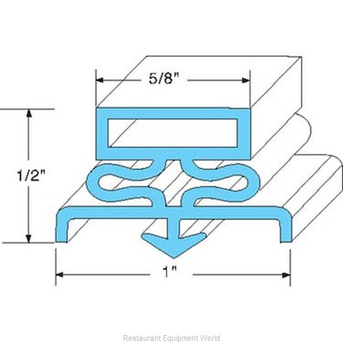 All Points 74-1045 Refrigerator, Door Gasket