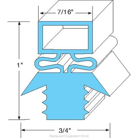 All Points 74-1048 Refrigerator, Door Gasket (Magnified)