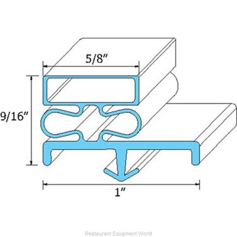 All Points 74-1072 Refrigerator, Door Gasket (Magnified)