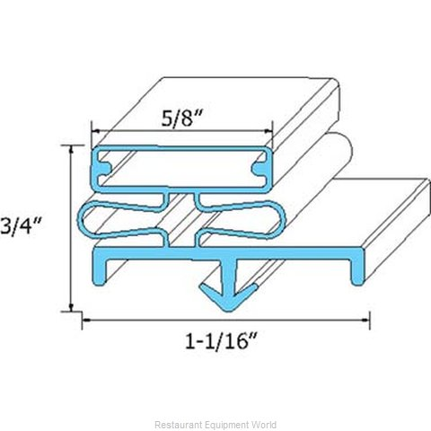 All Points 74-1107 Refrigerator, Door Gasket