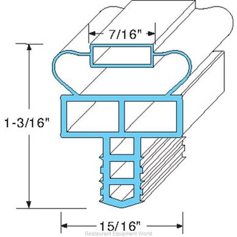 All Points 74-1108 Refrigerator, Door Gasket