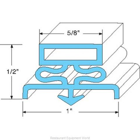 All Points 74-1114 Refrigerator, Door Gasket (Magnified)