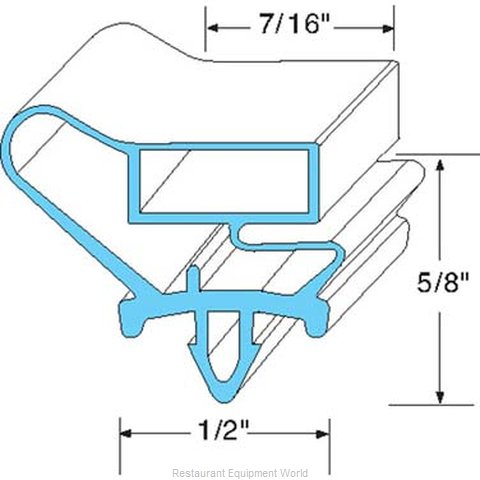 All Points 74-1120 Refrigerator, Door Gasket