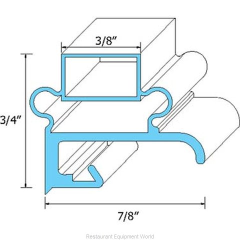 All Points 74-1158 Refrigerator, Door Gasket (Magnified)