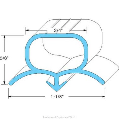 All Points 74-1172 Refrigerator, Door Gasket (Magnified)