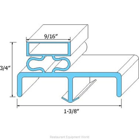 All Points 74-1175 Refrigerator, Door Gasket