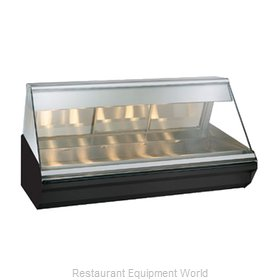 Alto-Shaam EC2-72-BLK Display Case, Heated Deli, Countertop