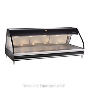 Alto-Shaam ED2-72-BLK Display Case, Heated Deli, Countertop