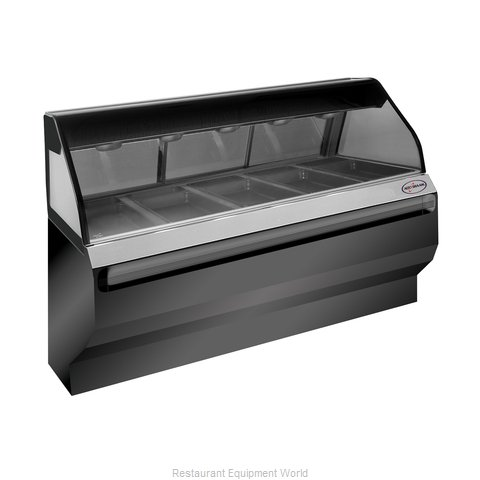 Alto-Shaam ED2SYS-72/PR-BLK Display Case, Heated Deli, Floor Model (Magnified)