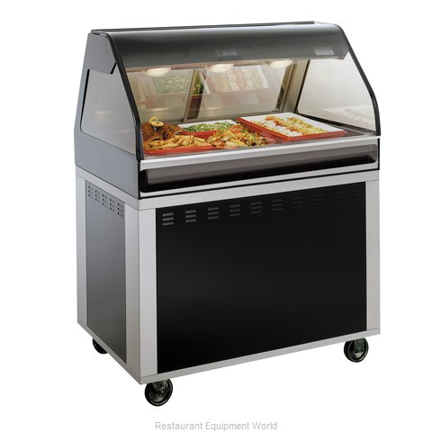 Alto-Shaam EU2SYS-48/P-BLK Display Case Heated Deli Floor Model (Magnified)