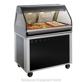 Alto-Shaam EU2SYS-48/P-BLK Display Case, Heated Deli, Floor Model