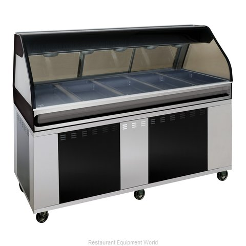 Alto-Shaam EU2SYS-72/PL-BLK Display Case Heated Deli Floor Model (Magnified)