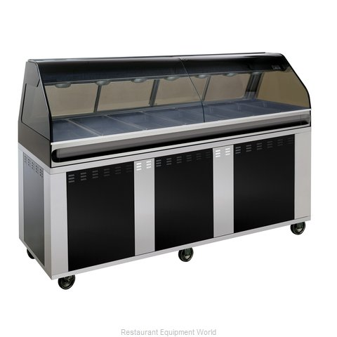 Alto-Shaam EU2SYS-96-BLK Display Case Heated Deli Floor Model (Magnified)