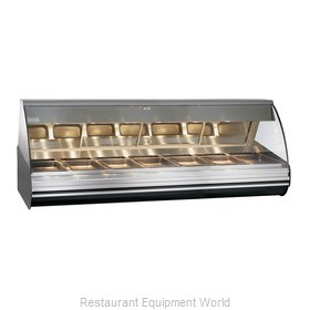 Alto-Shaam HN2-96-BLK Display Case, Heated Deli, Countertop