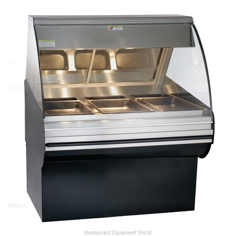 Alto-Shaam HN2SYS-48/P-BLK Display Case Heated Deli Floor Model