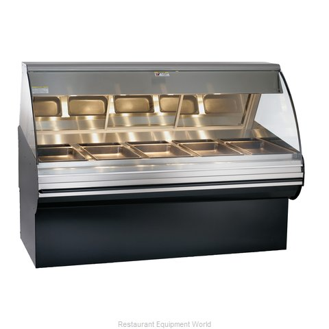 Alto-Shaam HN2SYS-72-BLK Display Case Heated Deli Floor Model (Magnified)