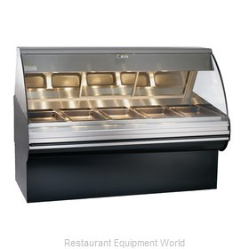Alto-Shaam HN2SYS-72/PL-BLK Display Case, Heated Deli, Floor Model
