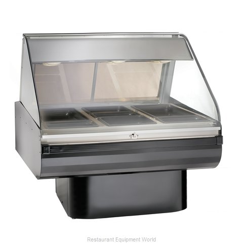 Alto-Shaam PD2SYS-48-BLK Display Case Heated Deli Floor Model