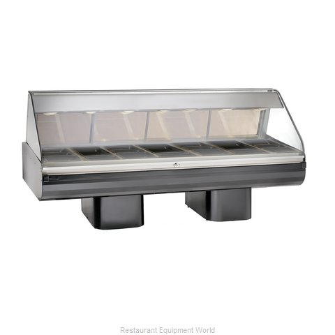 Alto-Shaam PD2SYS-96/PL-BLK Display Case, Heated Deli, Floor Model