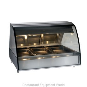 Alto-Shaam TY2-48-BLK Display Case, Heated Deli, Countertop