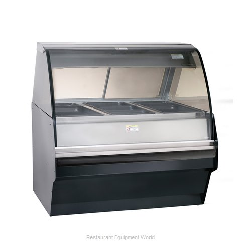 Alto-Shaam TY2SYS-48/P-BLK Display Case Heated Deli Floor Model