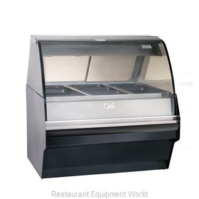Alto-Shaam TY2SYS-48/P-BLK Display Case, Heated Deli, Floor Model