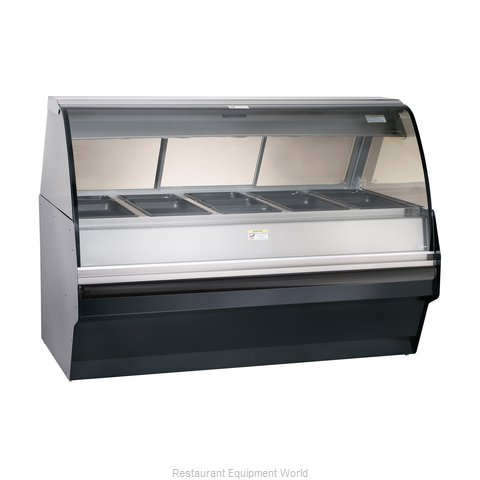 Alto-Shaam TY2SYS-72/PR-BLK Display Case Heated Deli Floor Model (Magnified)