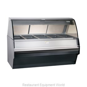 Alto-Shaam TY2SYS-72/PR-BLK Display Case, Heated Deli, Floor Model