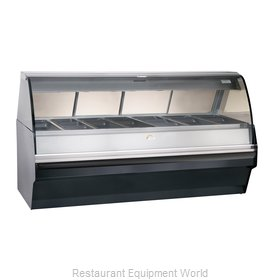 Alto-Shaam TY2SYS-96/PR-BLK Display Case, Heated Deli, Floor Model