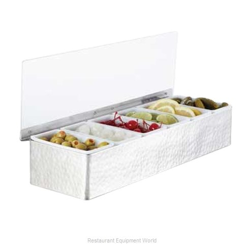 American Metalcraft HMCD6 Bar Condiment Server Countertop (Magnified)