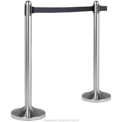American Metalcraft RSRTBK Crowd Control Stanchion Portable